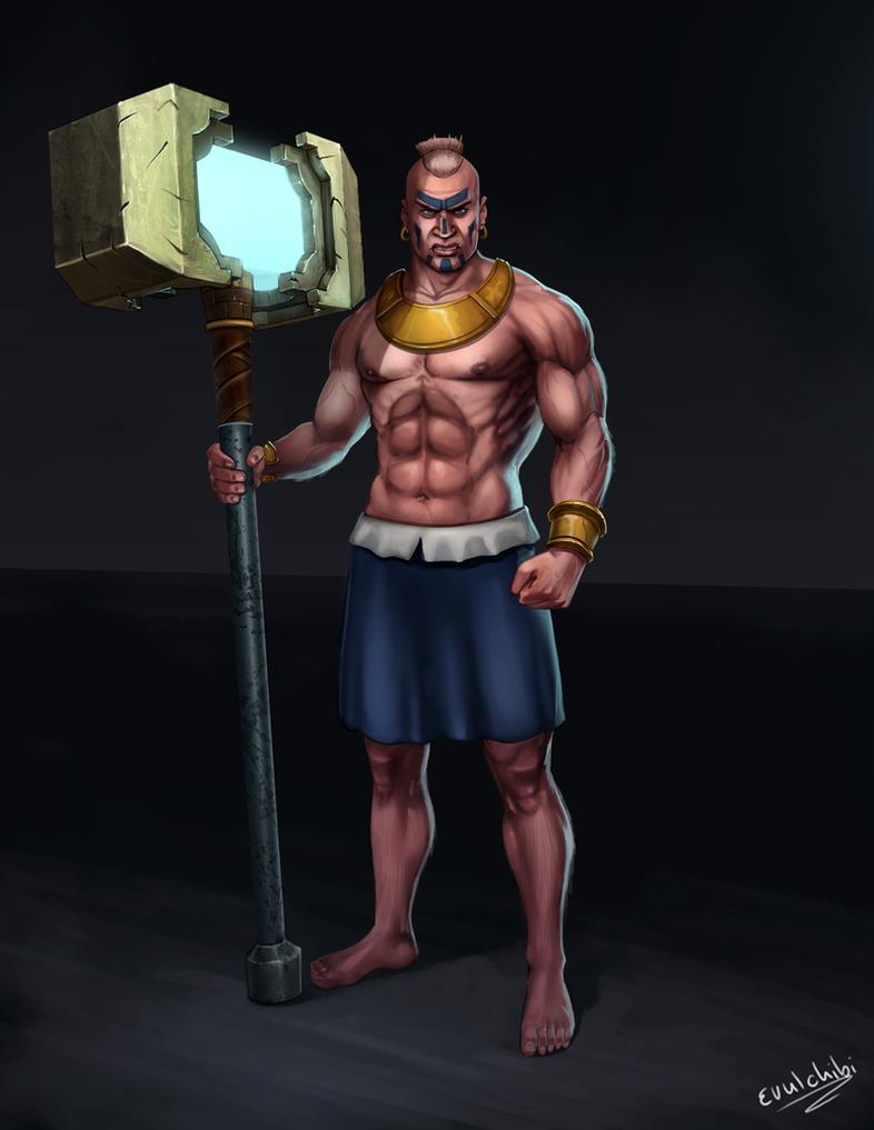 Boom beach warrior by Evulchibi