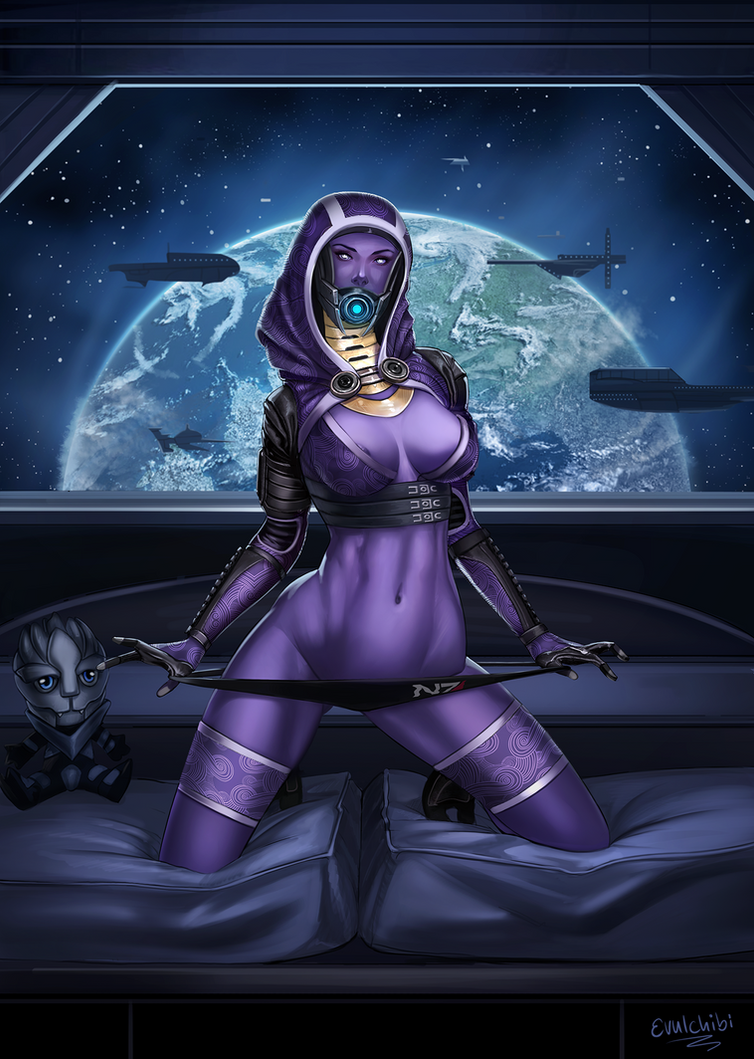 Tali Pin up by Evulchibi