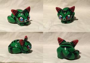 Melon cat figurine