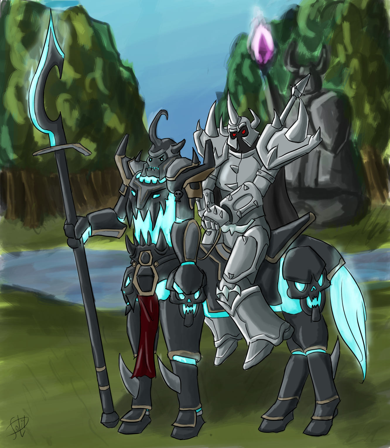Mordekaiser on Hecarim by SolidJB