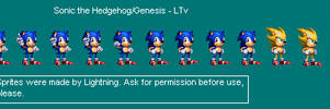 Sonic the Hedgehog 3X32 Bit style by ShinLightning