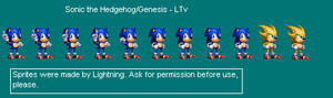Sonic the Hedgehog 3X32 Bit style