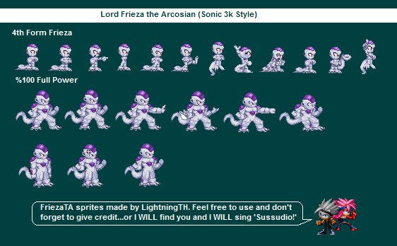 Lord Frieza Sonic 3k Style (2005-ish) by ShinLightning