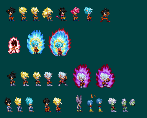 Dragon Ball Super Sonic Sprites By Shinlightning On Deviantart