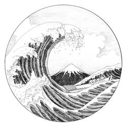 Third revisit of The great Wave by Hokusai