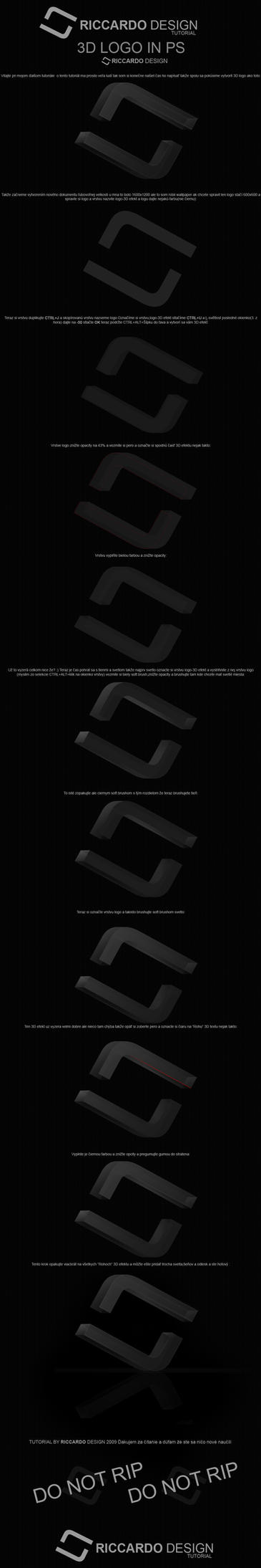 3D logo TUTORIAL by Riccardo2503