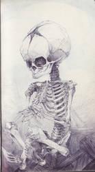 Cross Legged Fetal Skull by SketchbookNoir