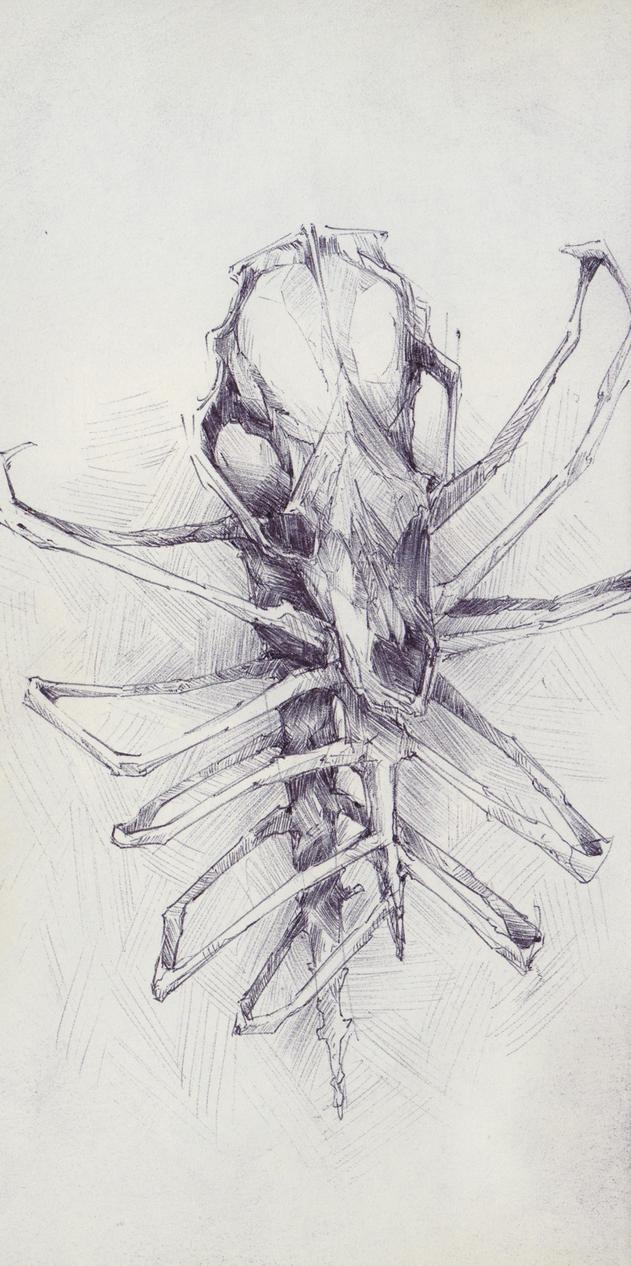 Creepy Animal Skull Totem By SketchbookNoir On DeviantArt