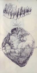 Teeth and Heart by SketchbookNoir