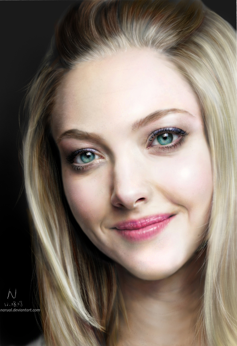 Amanda Seyfried Digital Portrait. by Narual