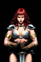 Red Sonja 74cover color by wgpencil
