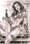 Red Sonja with copic markers