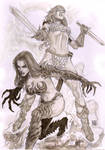 Quick Skecth:Red Sonja Witchblade