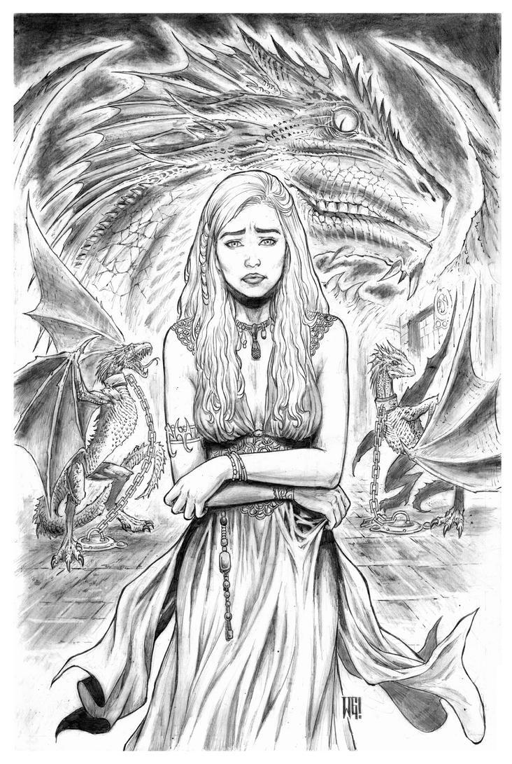 Daenerys Targaryen by wgpencil