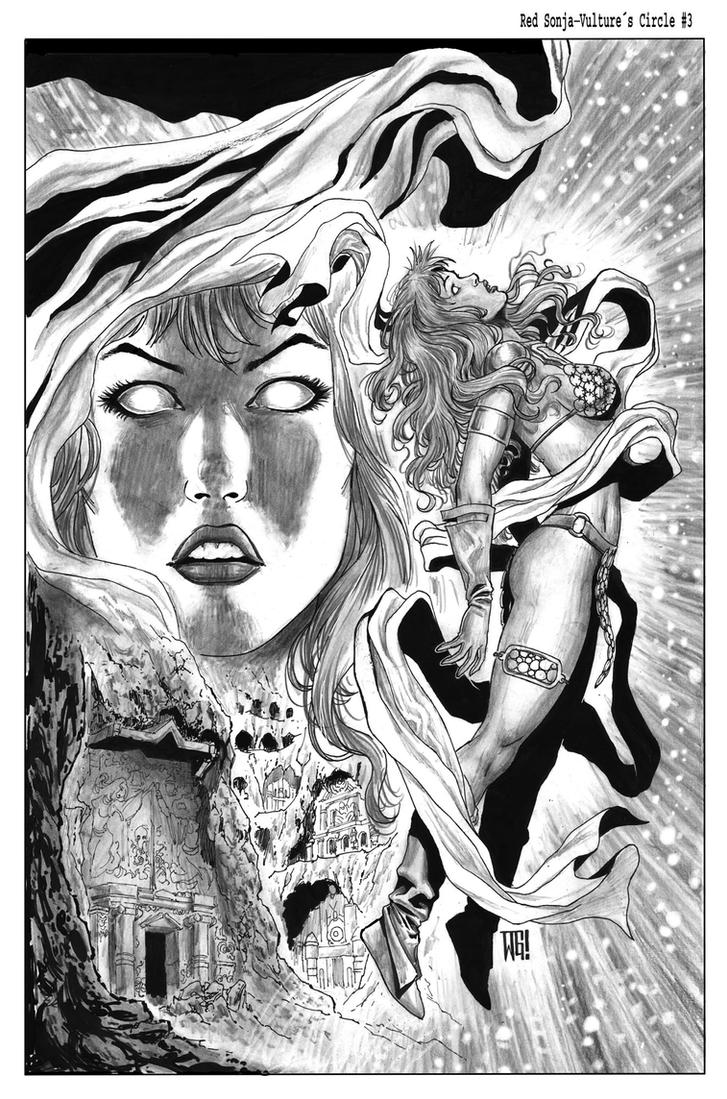 Red Sonja-Vulture s Cicle #3 Cover by wgpencil