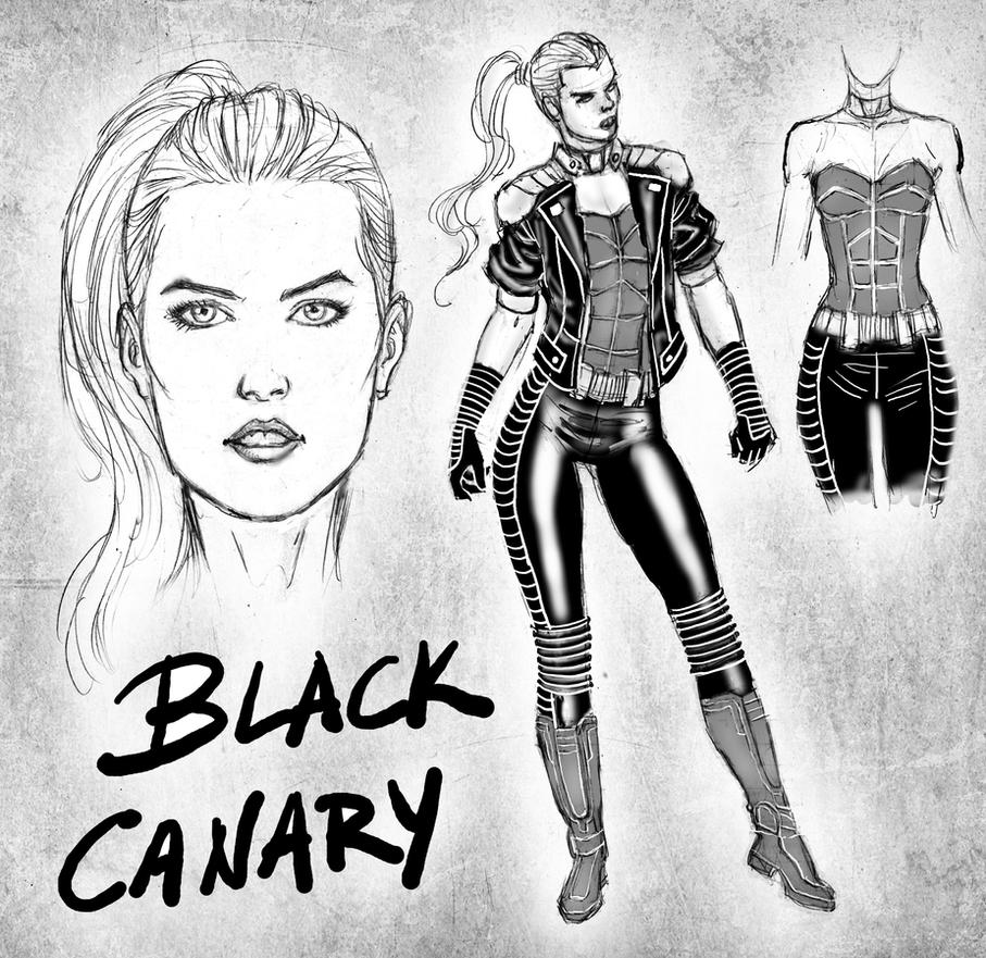 Black Canary for fun by wgpencil