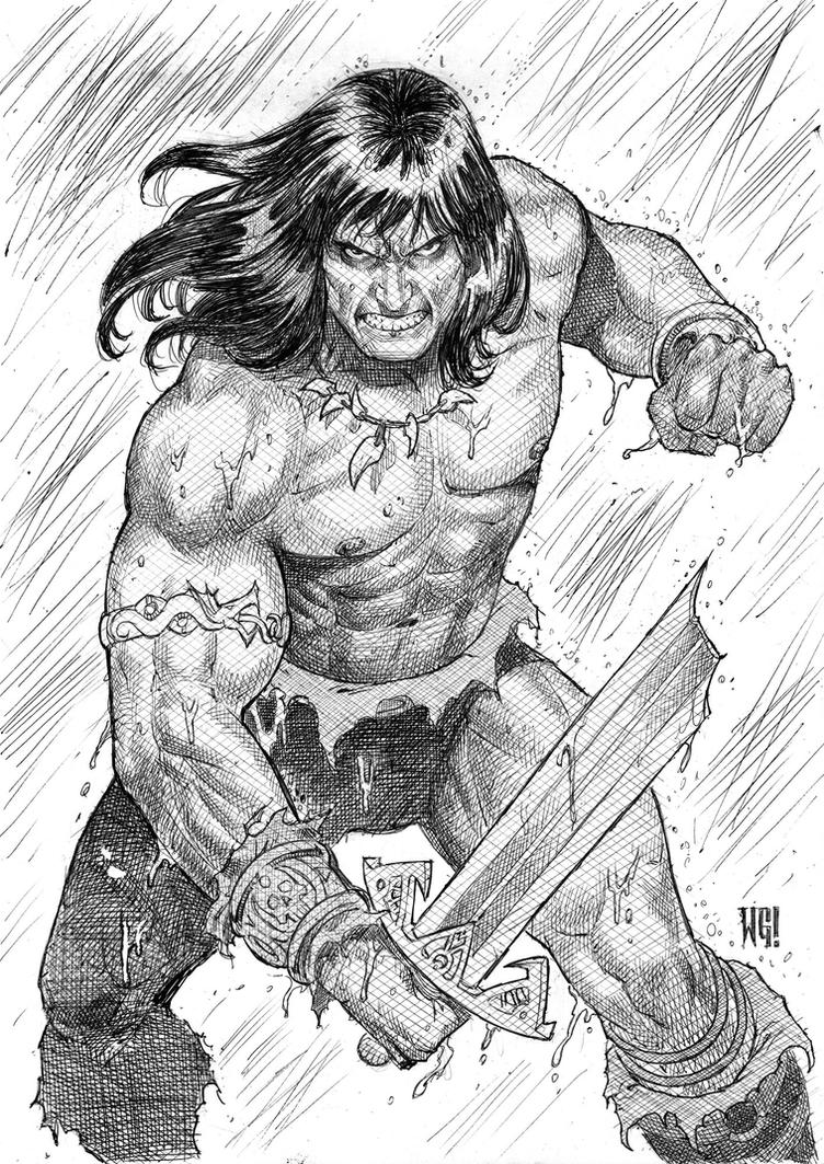 Conan Sketch by wgpencil