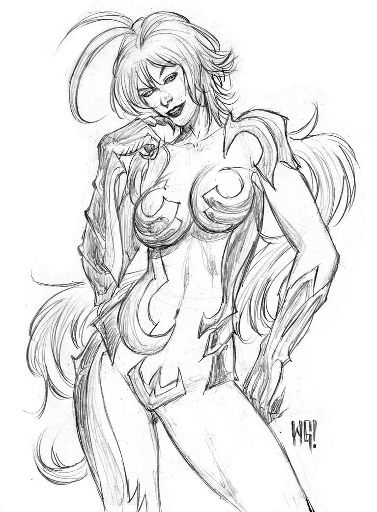 Witchblade Anime by wgpencil