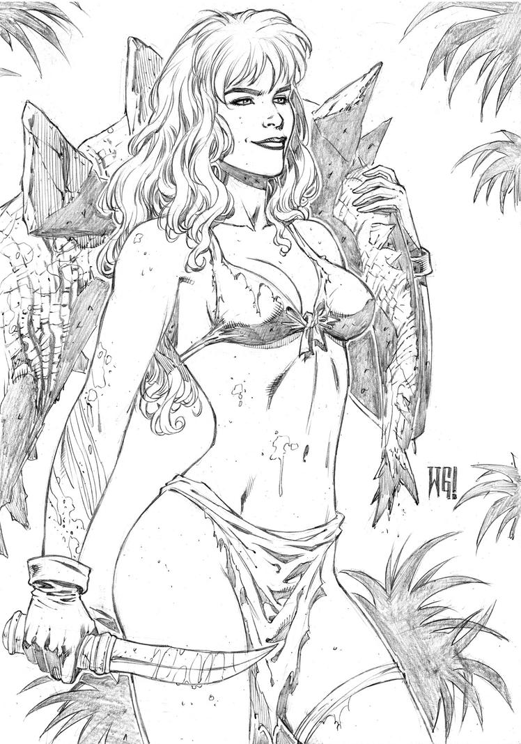 Rogue pinup by wgpencil