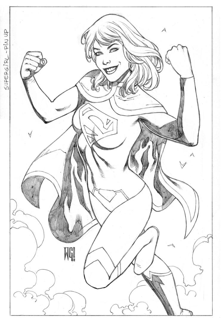 Supergirl PinUp by wgpencil