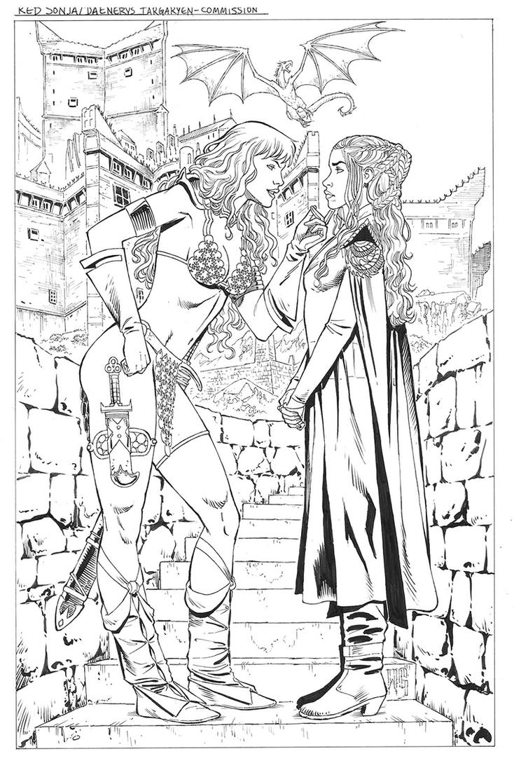 Sonja Daenerys-Commission by wgpencil