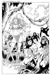 RedSonja-Tarzan1 Cover by wgpencil
