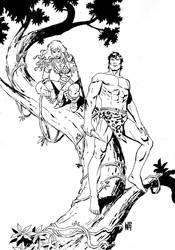 Sonja and Tarzan by wgpencil