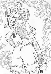 Cyberpunk Black Cat