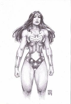 Wonder Woman ballpointpen sketch