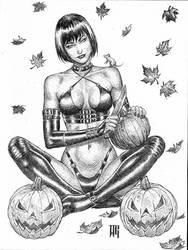 Chastity halloween ballpointpen commission