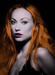 Women-models-olivia-wilde-monochrome Colour