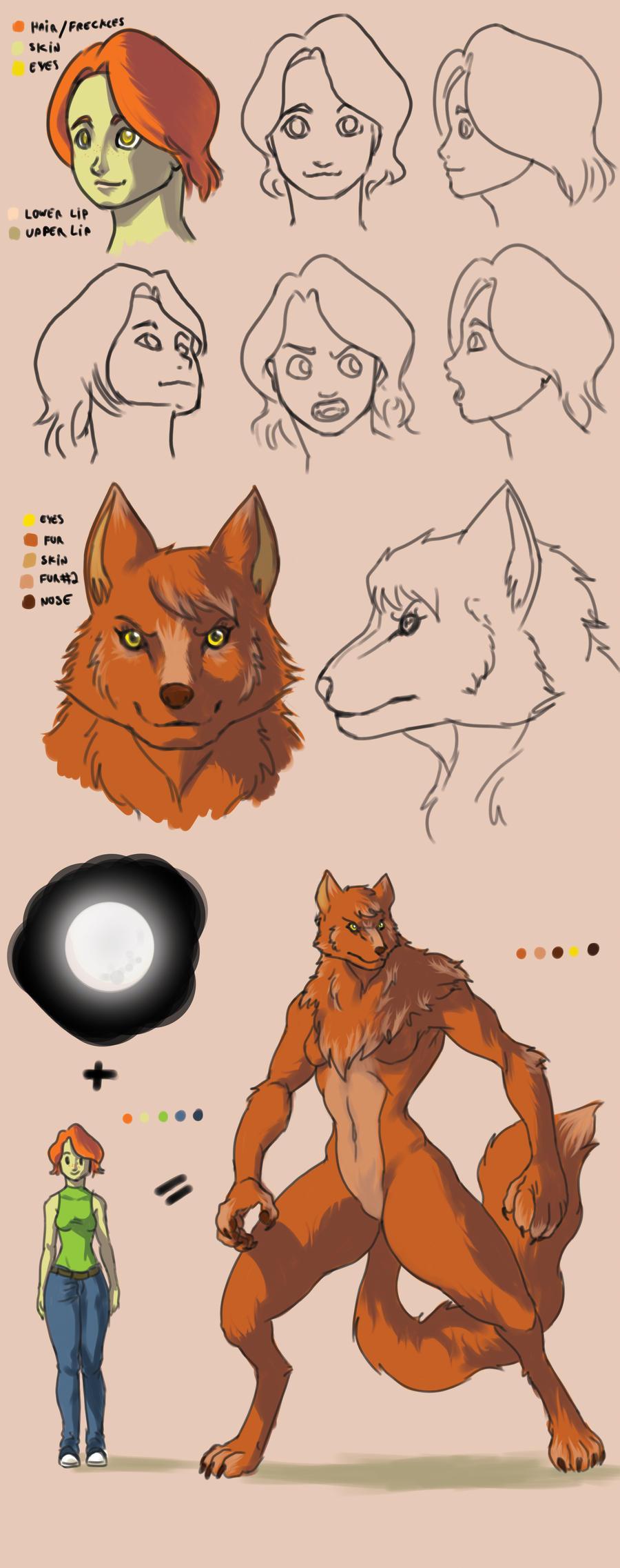 werewolf girl by davi-escorsin