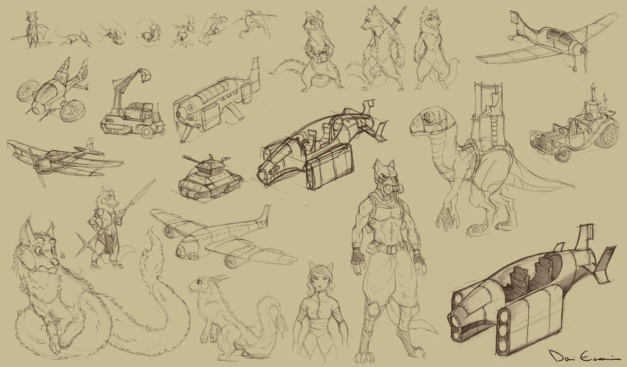 Sketch Dump - lotta stuff! by davi-escorsin