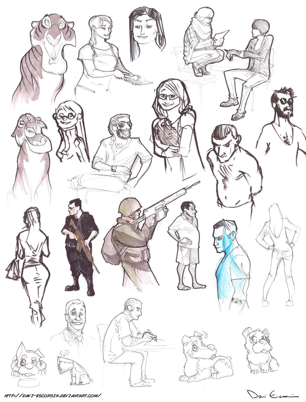 Character Design Sketchbook : Sketch dump fundamentals of character design by davi