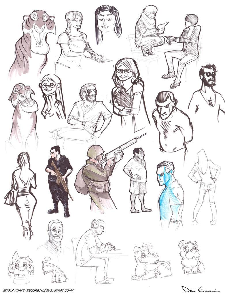 Character Design Fundamentals : Sketch dump fundamentals of character design by davi