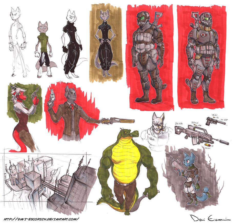 Sketch Dump - Markers 4 - Prismacolors by davi-escorsin