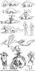 Sketch Dump - character design - 4 - dragon rider by davi-escorsin