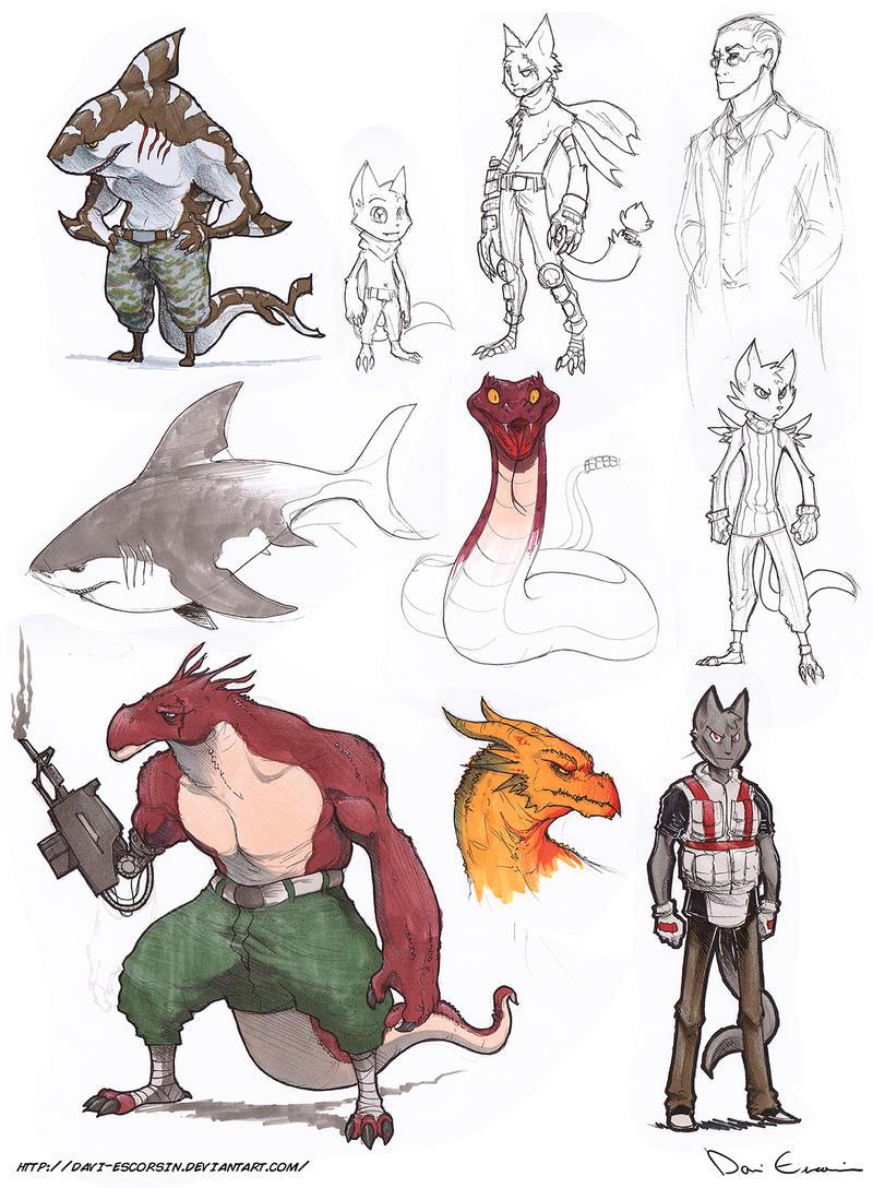 Sketch Dump - Random Stuff by davi-escorsin