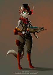Steam Punk Cat Girl by davi-escorsin