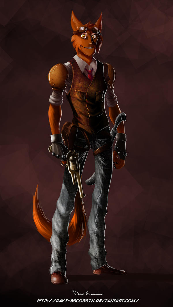 Steampunk Captain by davi-escorsin