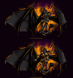Warrior Dragoness 3 black version