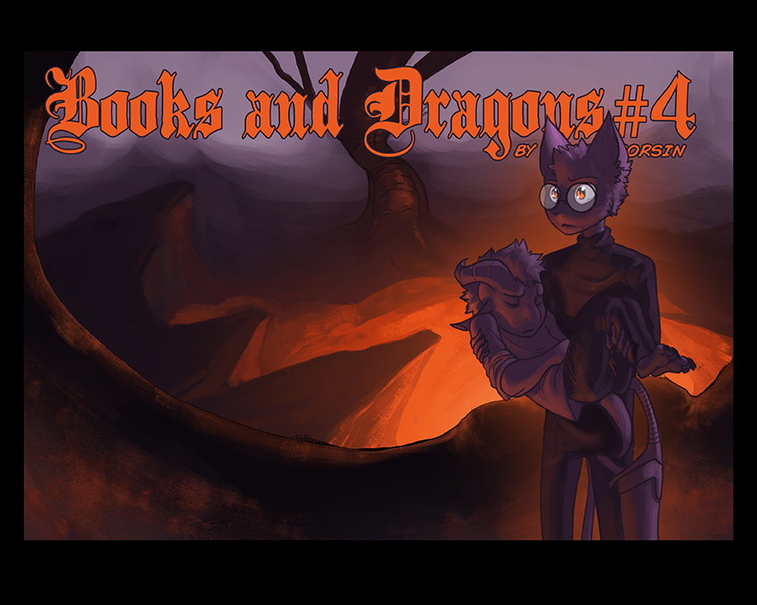 Books and Dragons chapter 4 cover by davi-escorsin