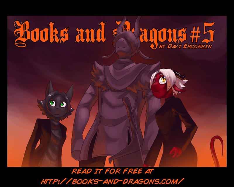 Books and Dragons chapter 5 cover by davi-escorsin