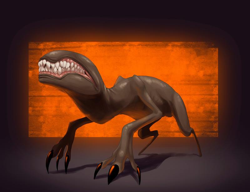 Nether Hound - concept by davi-escorsin