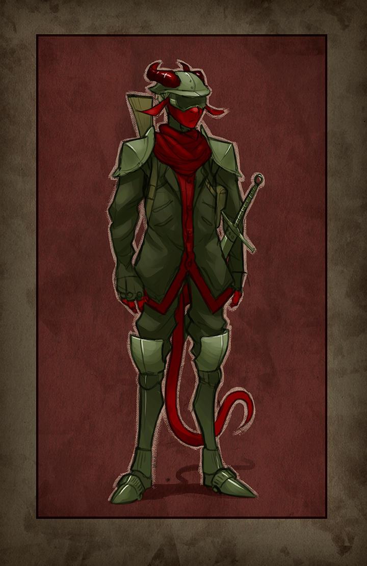 Red Dragon Soldier by davi-escorsin