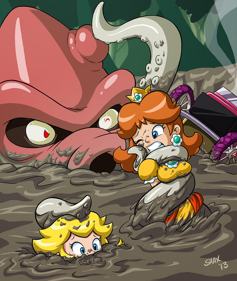 Naked princesses in quicksand men one