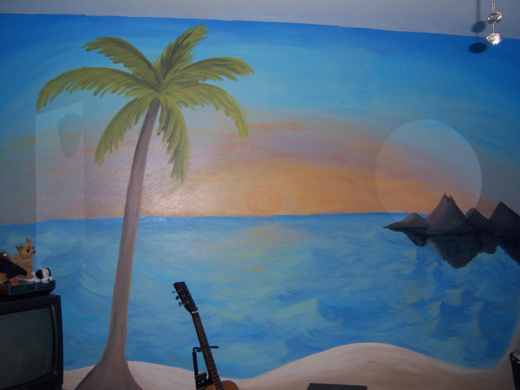Mural: Beach scene by j2starshine