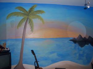 Mural: Beach scene