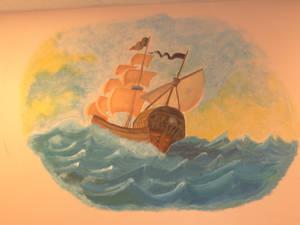 Mural: At Sea