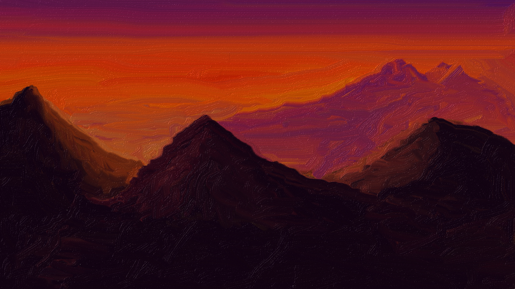 Mountain Scape by j2starshine